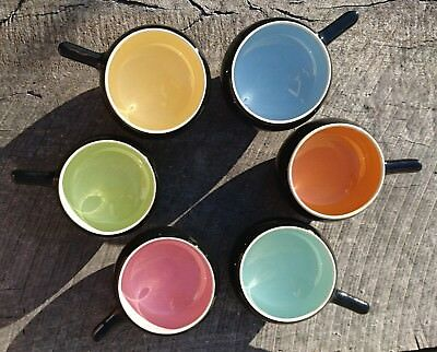 Vintage retro Martin Boyd set of 6 pottery ramekins
