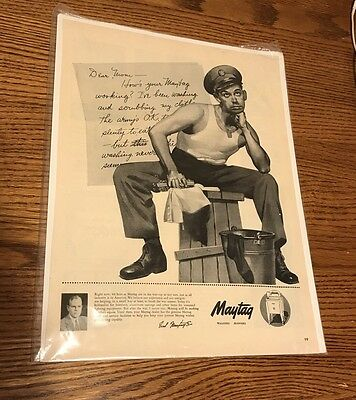 Vintage Maytag Washer Ad From Life Magazine 1943