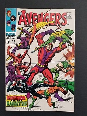Avengers #55 • Hi Grade Vf Or Better • 1St Ultron Appearance • Infinity War