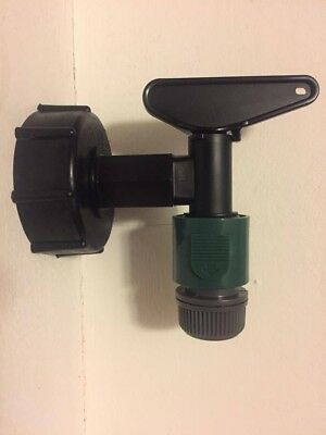IBC Adapters (S60X6) to Water Butt Taps built in Snap On + Hose Connectors