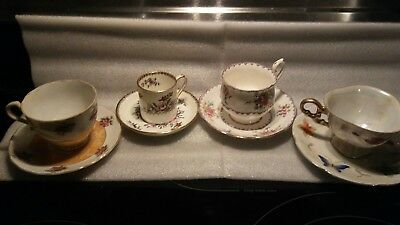 Lot of 4 Vintage Tea cup and Saucer Sets English Bone China , Japan Very Fine