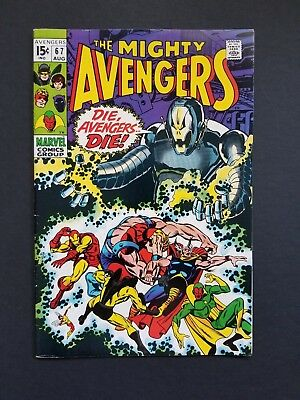 Avengers #67 •hi Grade Vf (8.0) Or Better+ • Classic Ultron Cover • Infinity War