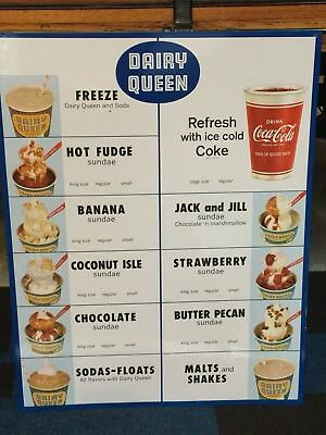 Coca Cola Cup Sign Dairy Queen New Old Stock
