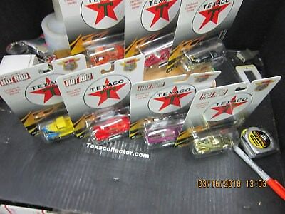 Complete Set of Seven Texaco Hot Rods