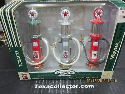 Set of three Texaco Visible Pumps 1/25 Scale