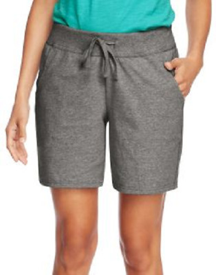 Hanes Women's Jersey Pocket Shorts Choose Color/size Xl Large Med Small New