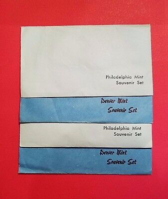 1982 & 1983 Us Mint Uncirculated  Souvenir  P & D  (4) Sets !