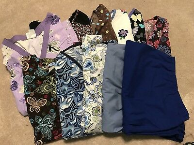 11 Piece Scrubs Lot- Women's 2X And 3X