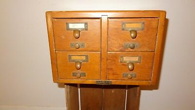 Vintage Gaylord Bros Library Card Catalog Cabinet 4 Drawers