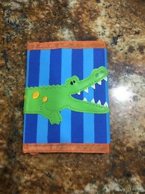 New Stephen Joseph Wallet - Alligator Crawling Horizontal  Bright Colorful