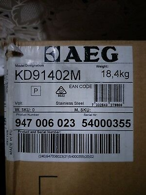 AEG 60cm Compact Oven Warming Drawer Brand New