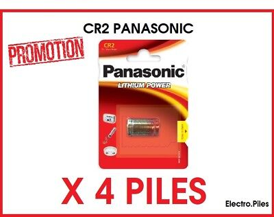 PROMO Set of 4 batteries special photo CR2 3V lithium Panasonic