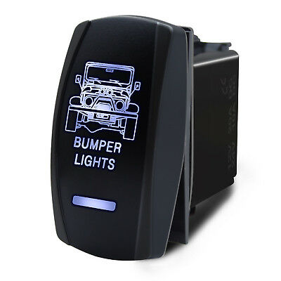 Boat Marine Waterproof Bumper Light LED Switch Panel Circuit Breaker 12V 24V