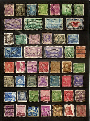 Page of good used older stamps from the USA