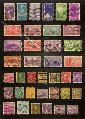 Page of good used older stamps from the USA 2