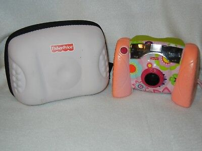 Fisher Price Kid Tough Digital Camera and Case Pink Battery SD Card Strap