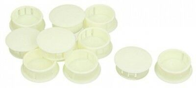 Sourcingmap® 10Pcs SKT-25 24.7mm Insulated Off White Plastic Snap In Mount