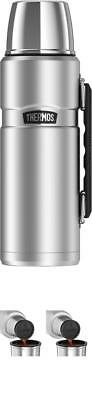 Thermos Stainless Steel King 40 Ounce Vacuum Insulated Hot&Cold Beverage Bottle