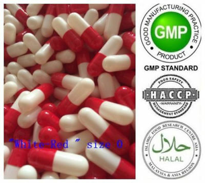 50- 1000 EMPTY transparent gel GELATIN CAPSULES ~SIZE 0 ~BULK (Kosher)