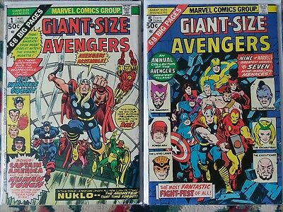 huge lot of bronze age giant size marvel comic books - 19 issues