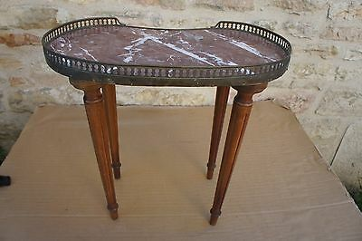 Table D'appoint Haricot Style Louis Xvi Dessus Marbre