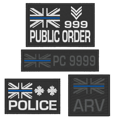 E0139  Embroidered  Choice Of Thin Blue Line Police Patch With Custom Options