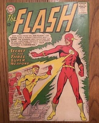 Flash 135 1st App Of kid Flash's Yellow Suit GD/VG