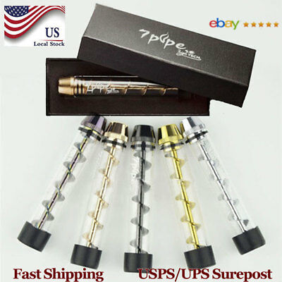 Quality Tank510 Tobacco Pipe Smoking Cigarette Cigar Glass Pipes Holder Gift Box