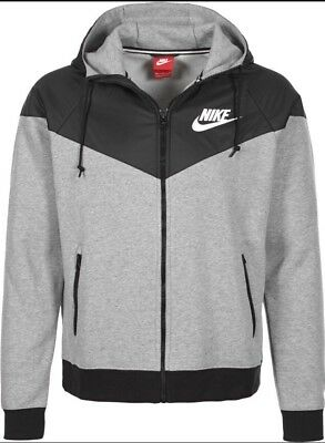 Original Nike Windrunner Fleece Mix Hoodie Jacke Grau Schwarz Gr Xxl 2Xl 169 €