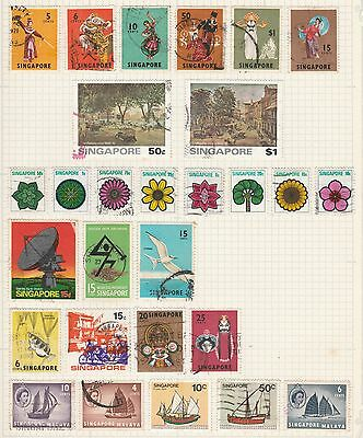SINGAPORE COLLECTION Culture, Flora, Sailing Ships, etc removed to send #