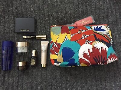 ESTEE LAUDER Gift Set Includes Make Up Bag and 7 Luxury Products NEW