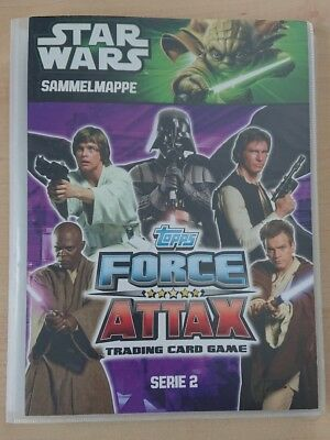 Star Wars trading card game topps Force Attax Serie 2 Sammelmappe
