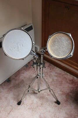 Two Performance Percussion Tom Toms and Stand
