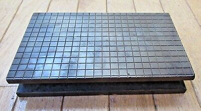 "Heavy Duty Raised Steel Surface Plate - 8 3/8"" x 5"" x 1 1/2"" - 14.5 Lbs."