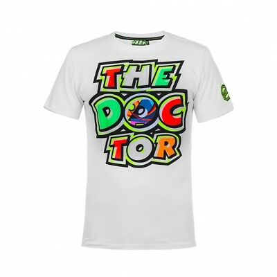 OFFICIAL Moto GP VR46 Valentino Rossi The Doctor Dr T-Shirt White – NEW