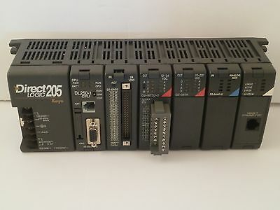 Automation Direct Logic 205 Koyo Power Base Controller Sd2-06B-1 W/six Modules