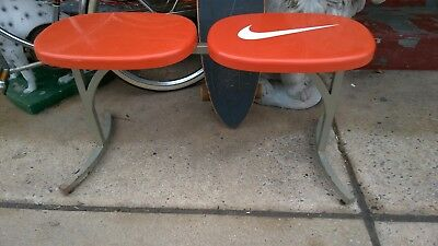 Vintage Nike Swoosh Just Do It Store Display Shoe Bench Chair Seat MCM