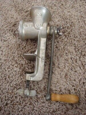 Vintage Keystone No 20 Meat Food Grinder Boyertown PA Antique Free Shipping!