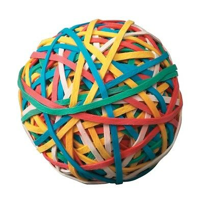 School Smart Economy Rubber Band Ball Multiple Color Easily Keep & Find - New