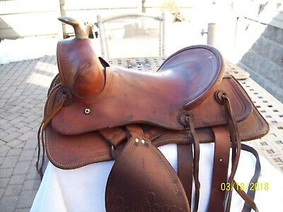 Vintage Roy Rogers Children's Saddle Leather~ All Original ~ Beautiful Condition