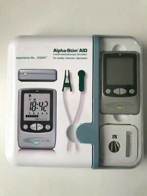 Alpha-Stim AID cranial electrotherapy stimulator microcurrent therapy