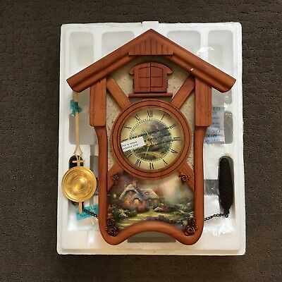 THOMAS KINKADE Timeless Memories Wall Cuckoo Clock with Authenticity Certificate