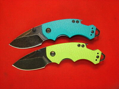 Lot Of 2 Kershaw Teal Lime  Stone Wash Shuffle Special   Meen   88700T