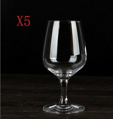 New 5X Capacity 370ML Height 175MM Transparent White Wine Glass/Glassware %