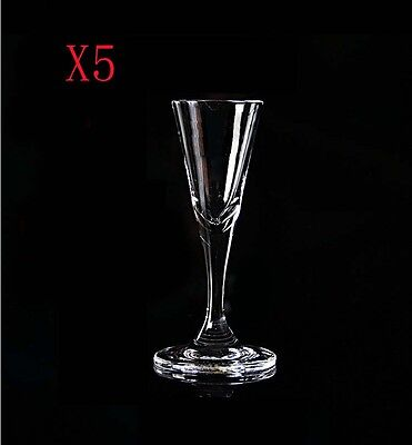 New 5X Capacity 20ML Height 105MM Transparent Small White Wine Glass/Glassware %