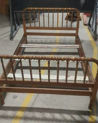 Antique Jenny Lind Bed Frame with rails and slats.  Local pick up only