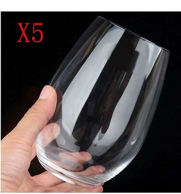 New 5X Capacity 620ML Height 132MM Transparent White Wine Glass/Glassware %