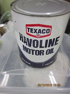 One Gallon Texaco Havoline Can 20W20