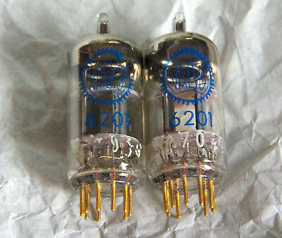 2x 6201 - E81CC Valvo blaue Serie - neu in OVP!  - matched pair