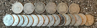 Canada 90% Silver Coin Quarter Dollar  $5.50 face value LOT